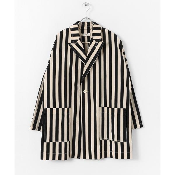 レディスジャケット(unfil striped cotton dobby Jacket)/アーバンリサーチ ドアーズ(レディース)(URBAN RESEARCH DOORS)