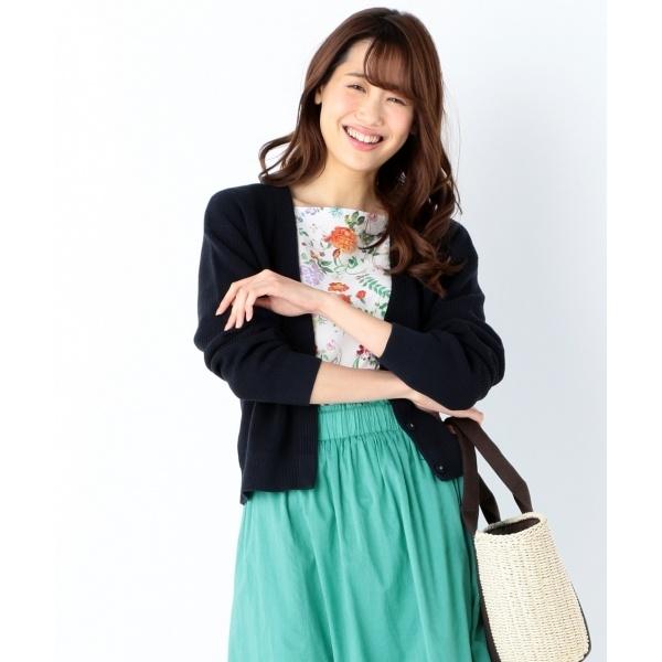 【2SET】フルールプリントツイン ニット/組曲(KUMIKYOKU)