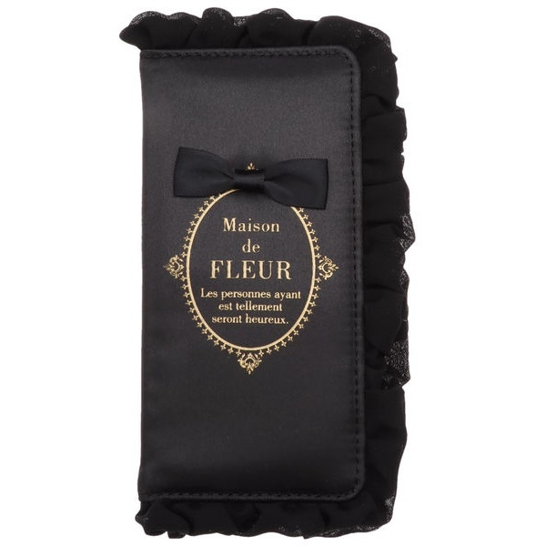 (Maison de FLEUR) メゾン フルール ド ブランドロゴフリルiPhone7/8ケース/ 【sweet4月号掲載】