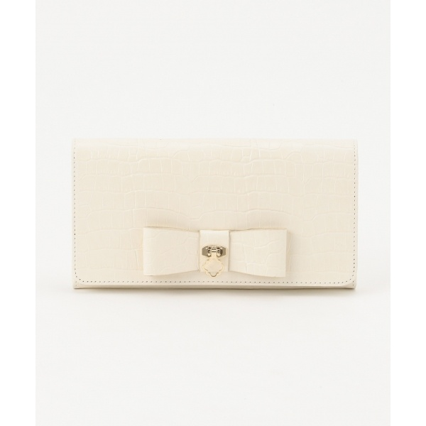 【BAG COLLECTION】CROC RIBBON CONTINENTAL WALLET 長財布/トッカ(TOCCA)