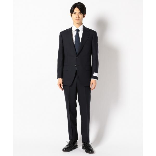 【J∞Quality】レトロテック スーツ シャドーギンガムチェック 紺/五大陸(gotairiku)