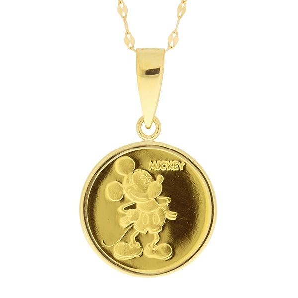 K24純金メダル ミッキー&ミニー[1/25oz/14mm/K18ペタル]ディズニー/東京ジュエリーインデックス(TOKYO JEWELRY INDEX)