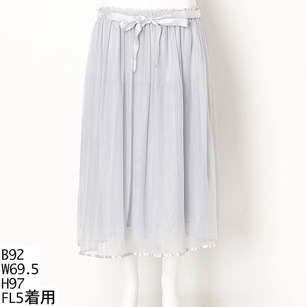 【大きいサイズ】ラメリボンチュールスカート/フランシュリッペ(大きいサイズ)(franche lippee)