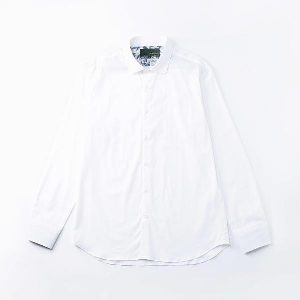 <大きいサイズ>リネンセミワイドシャツ/ムッシュニコル(セレクト)(MONSIEUR NICOLE SELECT)