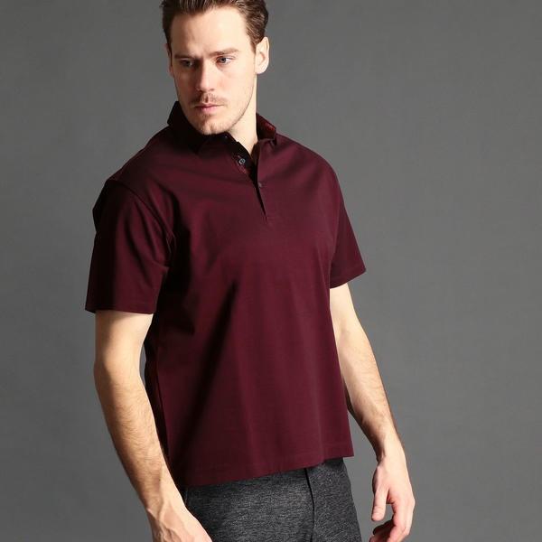 <大きいサイズ>襟切り替えポロシャツ/ムッシュニコル(セレクト)(MONSIEUR NICOLE SELECT)