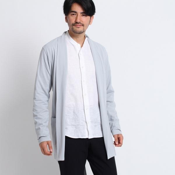 Mカーディ(ミディアムノーボタンカーディガン[ メンズ カーディガン ])/タケオキクチ(TAKEO KIKUCHI)