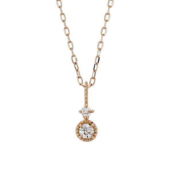 K10 ピンクゴールド ダイヤモンド ネックレス/ブルーム(BLOOM)