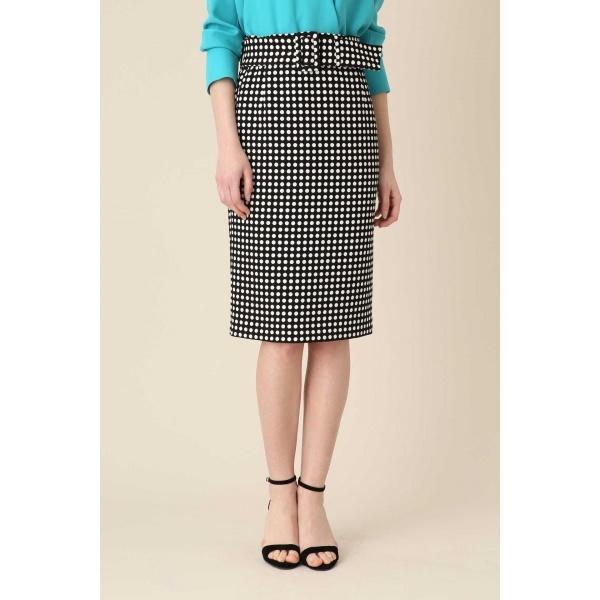 ポルカドットベルト付きタイトスカート/ピンキー&ダイアン(PINKY & DIANNE)