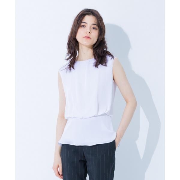 【上質シルク素材】ダブルレイヤーシルク ブラウス/カルバン・クライン ウィメン(Calvin Klein women)