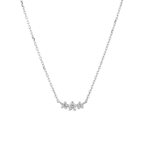 プラチナ ダイヤモンド(0.1ct) 3石 ネックレス/ブルーム(BLOOM)