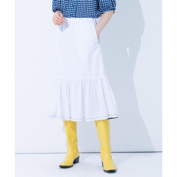 【春のおすすめスカート】クールポプリン スカート/カルバン・クライン ウィメン(Calvin Klein women)