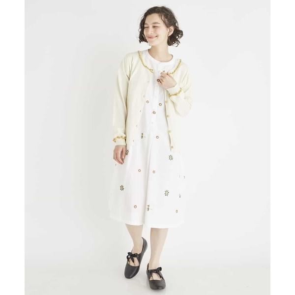 BLUJA JQ 魔女柄刺繍 Aラインワンピース/ホコモモラ(JOCOMOMOLA)