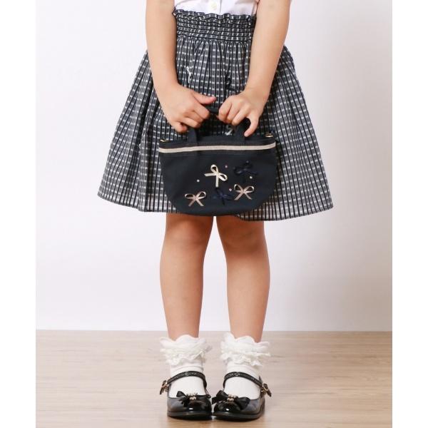 【SCHOOL】リボンピンチェック スカート/トッカ バンビーニ(TOCCA BAMBINI)