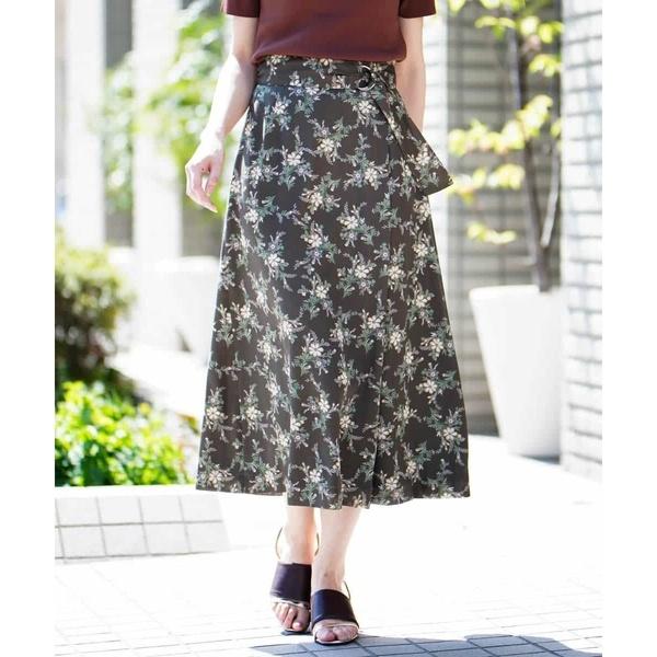 【洗濯機で洗える】花柄プリントスカート/MK ミッシェルクラン(MK MICHEL KLEIN)