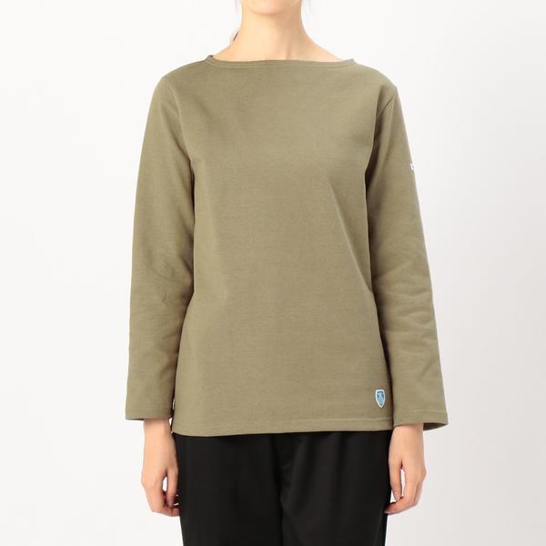 【ORCIVAL】コットンロード フレンチバスクシャツ SOLID WOMEN/ビショップ(レディース)(Bshop)