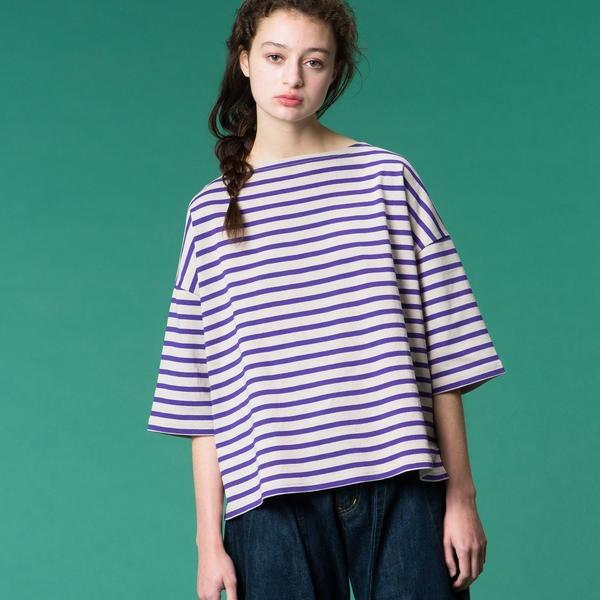 【ORCIVAL】コットンロード ドロップショルダーTシャツ WOMEN/ビショップ(レディース)(Bshop)