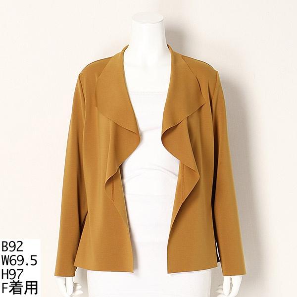 【大きいサイズ】軽くて使える 着流しジャケット/ラクープ(LACOUPE)