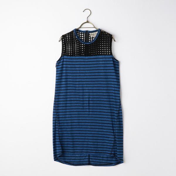 S 【Sea New York/シー ニューヨーク】 Lace&Stripe Slvls Dress/ノーリーズ レディース(NOLLEY'S)