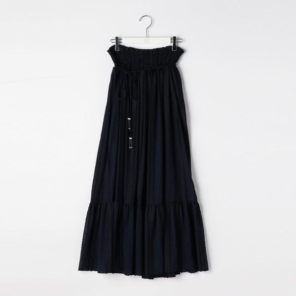 ストライプ刺繍シフォンスカート/ノーリーズ レディース(NOLLEY'S)