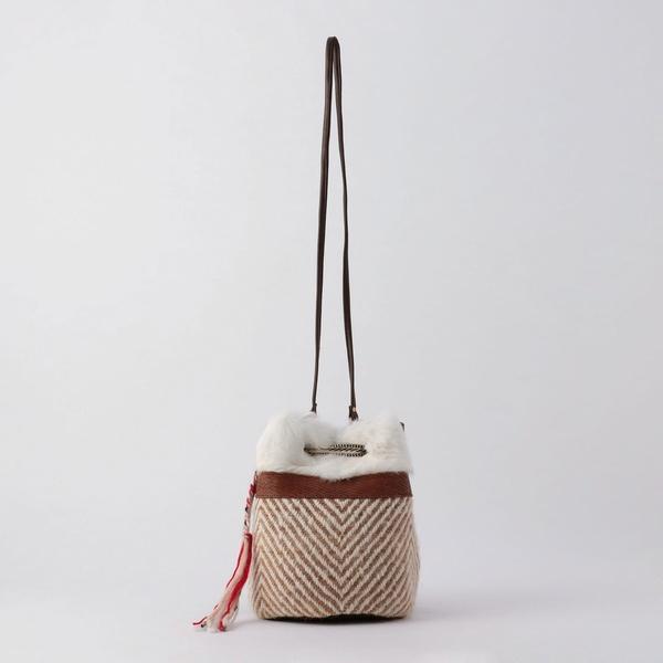 【CLARAMONTE/クララモンテ】カラーファー巾着バッグ/ノーリーズ レディース(NOLLEY'S)