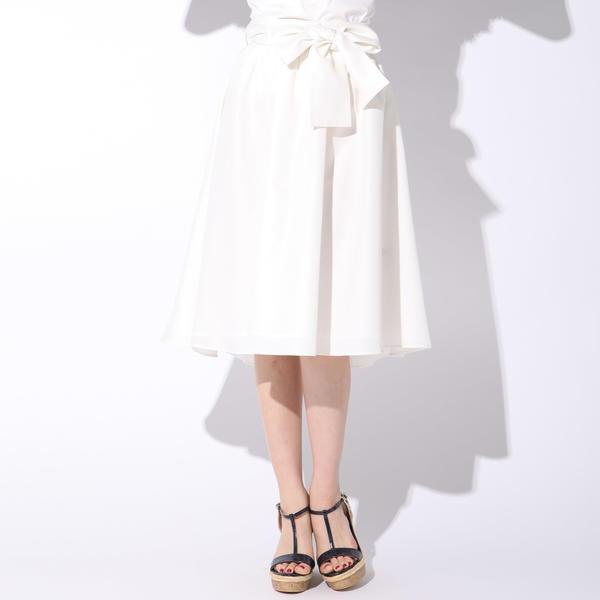 【大きいサイズ】【手洗い可能】腰巻風3wayスカート/クイーンズコート(大きいサイズ)(QUEENS COURT)