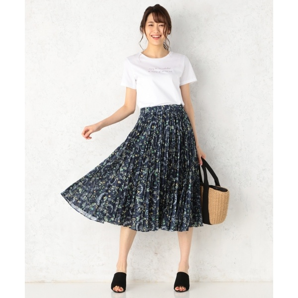【KUMIKYOKU×JUN OKAMOTO】オリヴィエプリント スカート/組曲(KUMIKYOKU)