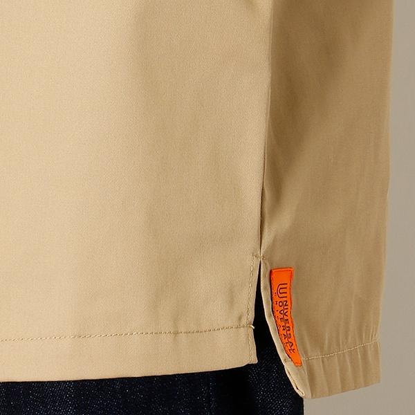 ユニバーサルオーバーオールステッチジップシャツ/ モルガンオム (MORGAN HOMME)