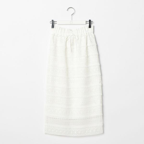 フリンジケミカルレースタイトスカート[CLASSY掲載]/ノーリーズ レディース(NOLLEY'S)