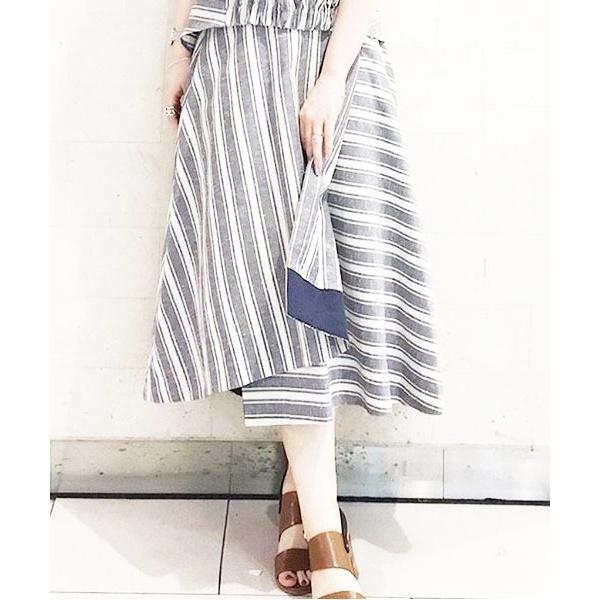 【KATHARINE ROSS】 ラップストライプスカート/キャサリンロス(KATHARINE ROSS)