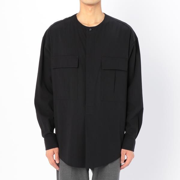 【unfil】コットンギャバジン クルタシャツ MEN/ビショップ(メンズ)(Bshop)