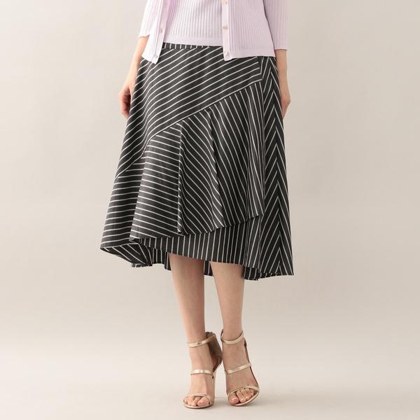 グログランストライプデザインスカート/アマカ(AMACA)