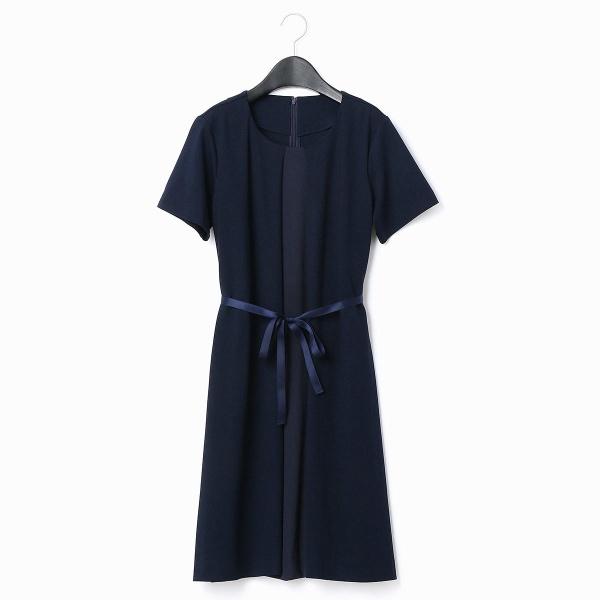 センターサテン切替ドレス(マタニティ)/コムサブロンドオフ(COMME CA BLANC D'OEUF)