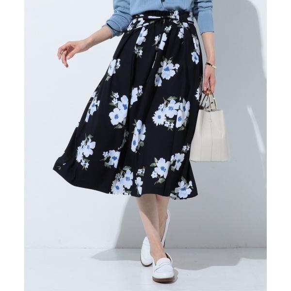 【洗える】Vintage Floral Print スカート/Jプレス Sサイズ(レディス)(J.PRESS LADIES S)