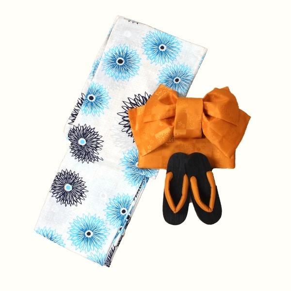 アウトレット浴衣一人で着られる5点セット洗える吸水速乾マム花柄インシード INCEDEJTKc13lF