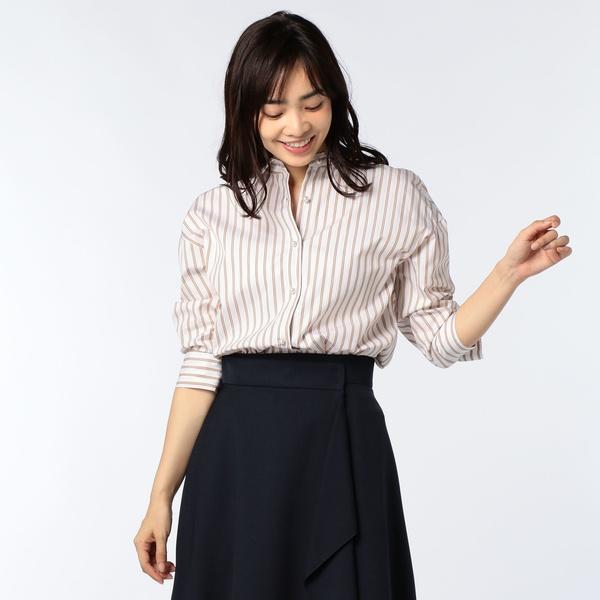 パール釦 裾2-WAYシャツ/ノーリーズ レディース(NOLLEY'S)