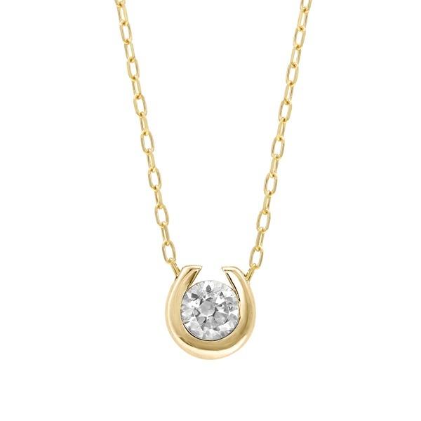 【WEB限定】K10 イエローゴールド ダイヤモンド 馬蹄モチーフ ネックレス/エステール(ESTELLE)