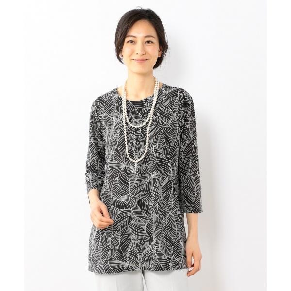 【洗える】ロハスプリントエスパンディー トップス/ジェーン モア L(JANE MORE L)