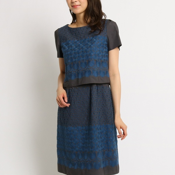 エンブロイダリー刺繍ワンピース/スーナウーナ(SunaUna)