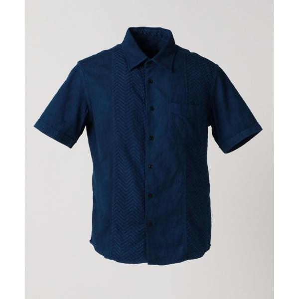 【30周年記念】藍手染めクレイジーパターン シャツ/ジョセフ アブード(JOSEPH ABBOUD)