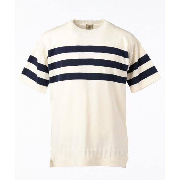 【HUSTON GASS】ガンジーニット Tシャツ/ジェイ・プレス メン(J.PRESS MEN)