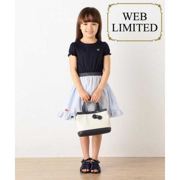 【WEB限定カラー有/SCHOOL】HelloKittyリボンストライプドレス ワンピース/トッカ バンビーニ(TOCCA BAMBINI)