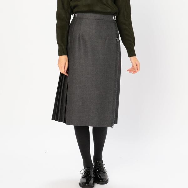 【O'NEIL of DUBLIN】アコーディオンキルトスカート SOLID WOMEN/ビショップ(レディース)(Bshop)