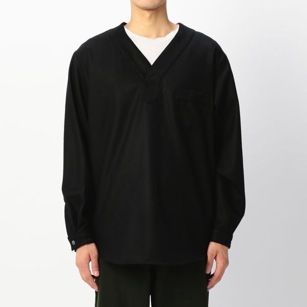 【HAVERSACK】フラノ Vネックシャツ MEN/ビショップ(メンズ)(Bshop)