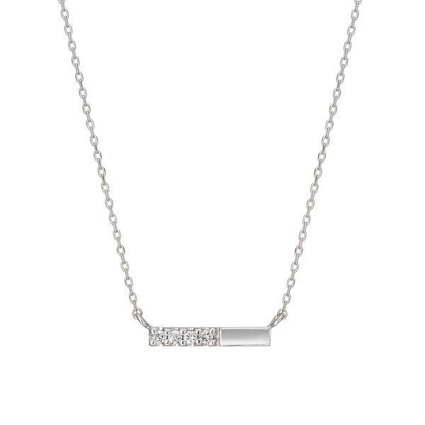 K10 ダイヤモンド 横型バー ネックレス( WG)/テイクアップ ピュア(TAKE-UP Pure)