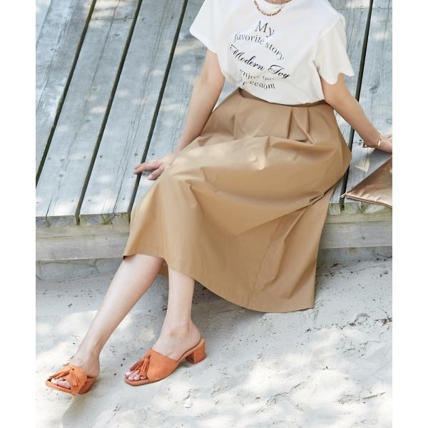 【洗える】コットンナイロンシルキーローン スカート/Jプレス Sサイズ(レディス)(J.PRESS LADIES S)