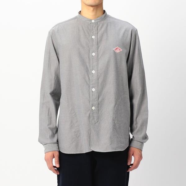 【DANTON】長袖バンドカラーシャツ VSS MEN/ビショップ(メンズ)(Bshop)