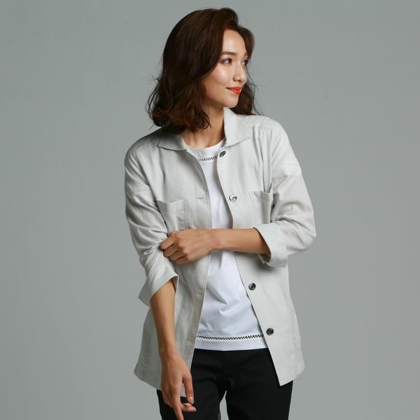 【大きいサイズ】オーガンメッシュライトジャケット/ラエフ(大きいサイズ)(la.f...)