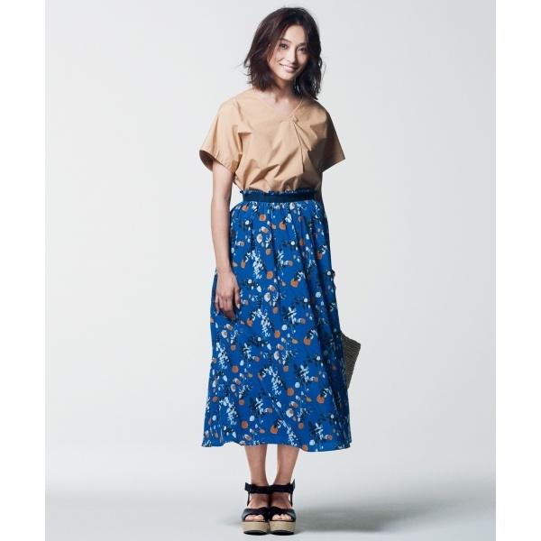 【マガジン掲載】LIBERTY SUMMER HOLIDAY プリント スカート(検索番号H33)/自由区 L(JIYUKU L)