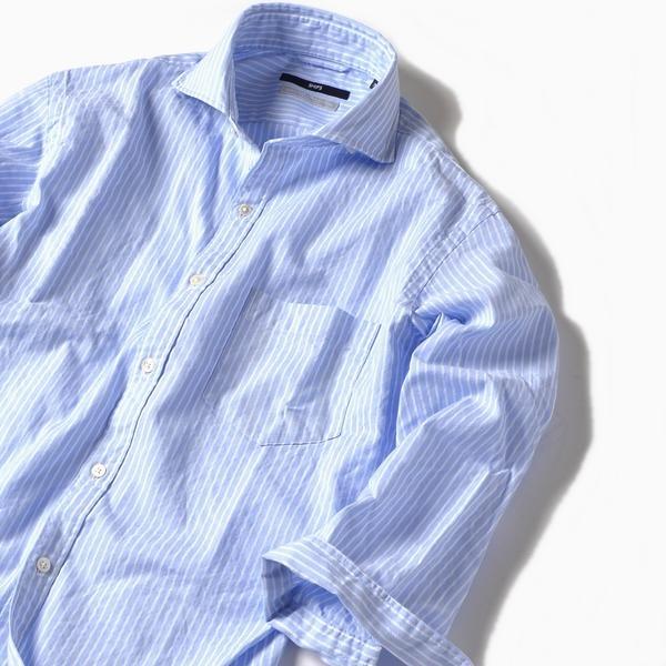 SC: MADE IN JAPAN ペルヴィアン ピマ/カラミ セミワイドカラー 7スリーブシャツ/シップス(メンズ)(SHIPS)