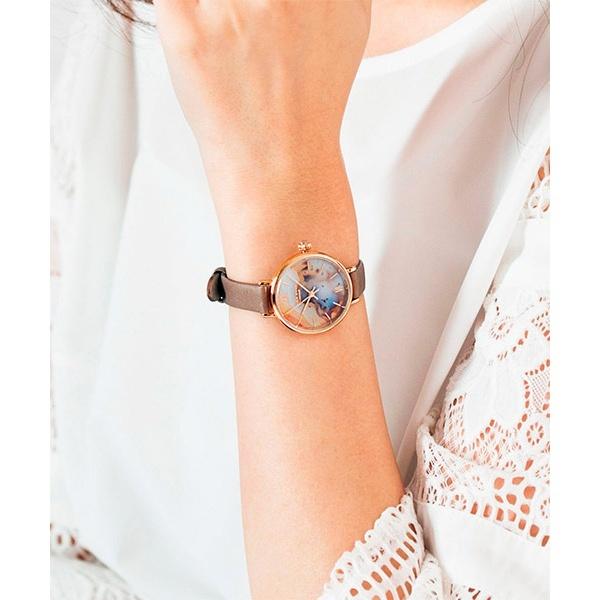 <ローラローズ>レザーベルト腕時計/ラナン(Ranan)